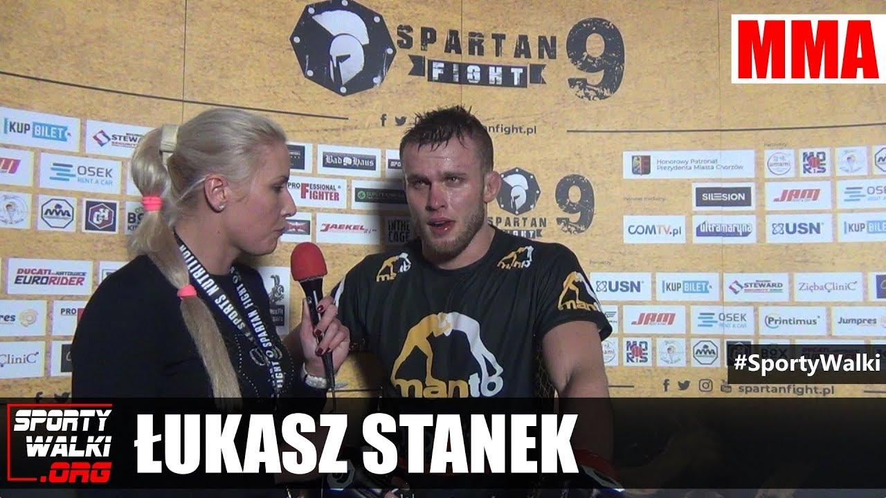 Łukasz Stanek po Spartan Fight 9