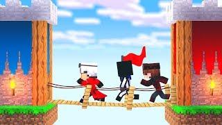 БИТВА ЗАМКОВ! СУПЕР СЕКРЕТНАЯ ТАКТИКА ПОБЕДЫ ЗА СЕКУНДУ ! Minecraft