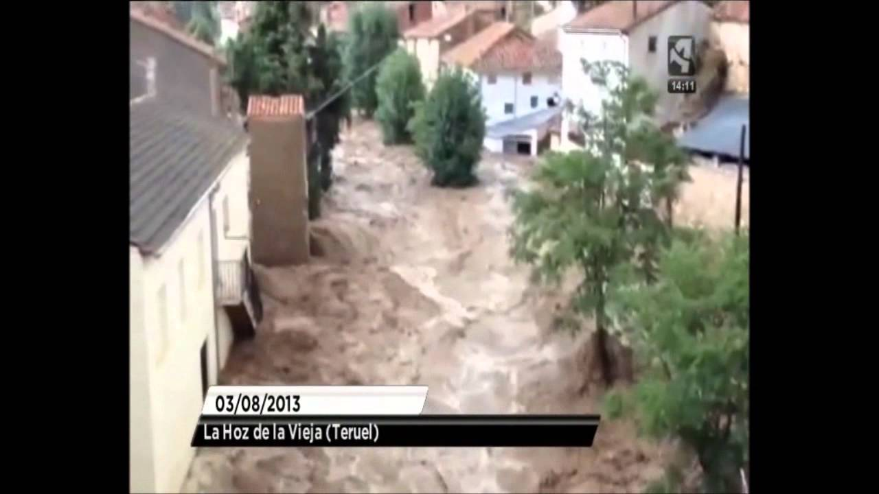 Un Ano De La Riada De La Hoz De La Vieja Y Oliete Teruel
