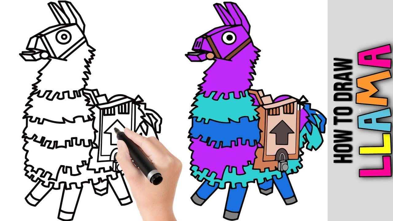 It's just a photo of Inventive Fortnite Llama Drawing