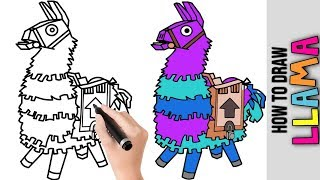 How To Draw Fortnite Skins ★ Characters ★ Llama ★ Cute Easy Drawing Tutorial For Beginners