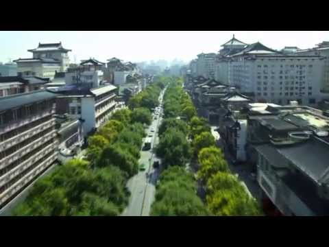 Aerial tour of Xi'an China