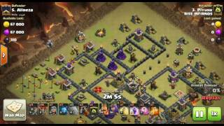 Best Attacking Troops in Th9 of clash of clans (GoBo-Wi-lavaloon)