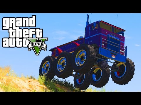 CRAZY MONSTER VEHICLES IN GTA 5!!! (GTA 5 Monster Lift Kits