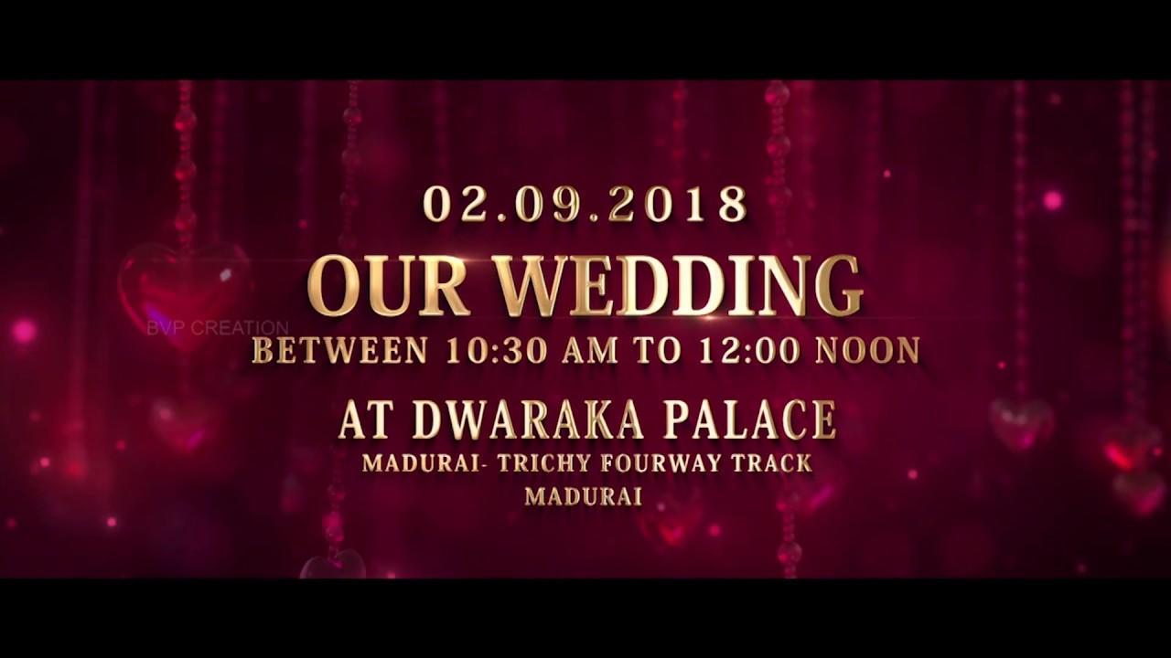 Wedding Invitation Video- Save The Date Badhusha & Seema ) - YouTube