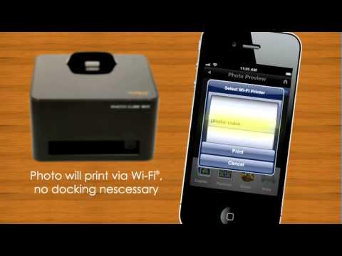 Wi Fi Photo Cube Compact Photo Printer Model Ipwf P30 Vp Youtube