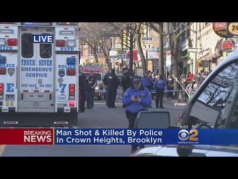 Suspect Shot Dead By Police In Crown Heights