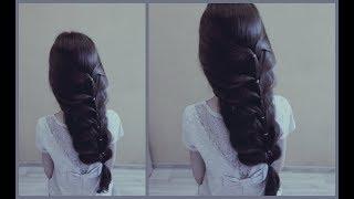 Объемная коса на резиночках.Объемно и шикарно.Volumetric braid on the rubber. Obably and elegantly.