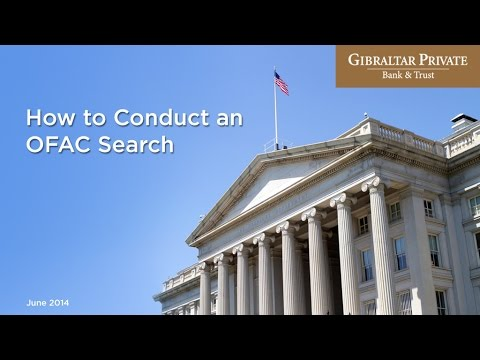 How to Conduct and OFAC SDN Search
