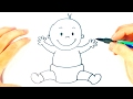 How to draw a Baby | Baby Easy Draw Tutorial