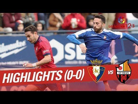 Resumen de Osasuna vs CF Reus (0-0)