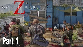 World War Z - Walkthrough Part 1 No Commentary New York: Descent [HD 1080P]