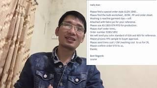 Tiếng Anh chuyên ngành may: Hướng dẫn đọc hiểu email tiếng Anh