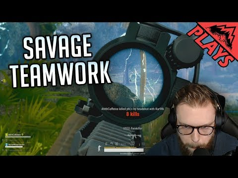 SAVAGE TEAMWORK - PlayerUnknown's Battlegrounds Gameplay #179 (StoneMountain64 PUBG FPP Squad )