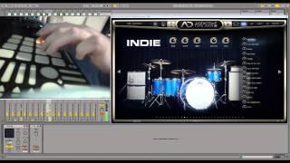 QuNeo finger drumming practice sessions 01