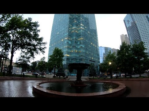 ⁴ᴷ⁶⁰ Walking NYC (Narrated) : Magnificent Rain at Long Island City Court Square and Waterfront