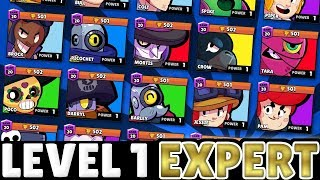 [Pro Tips] She Pushed EVERY Brawler to 501 WITHOUT Upgrading Them! | Level 1 Pro Player