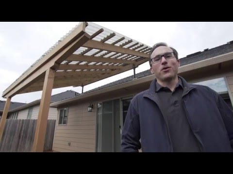 Building A Pergola With Skylift Roof Riser Hardware Youtube