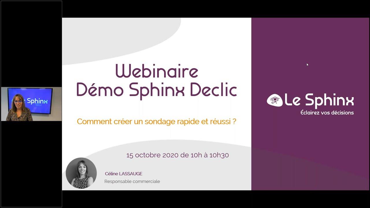 Démo Sphinx Declic : Comment créer un sondage rapide et réussi ?