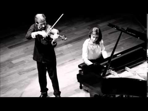 Ana Flávia Frazão e Laurent Albrecht Breuninger.Saint Säens: Violin Sonata op.75: Adagio