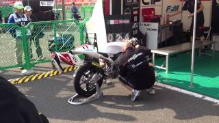Moto3 bike warm up