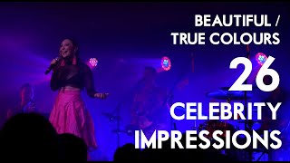 Beautiful / True Colours (26 Celebrity Impressions) | Jess Robinson