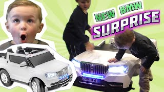 power wheels bmw baja 4wd surprise sportrax unboxing   new sportrax kids vehicle toy
