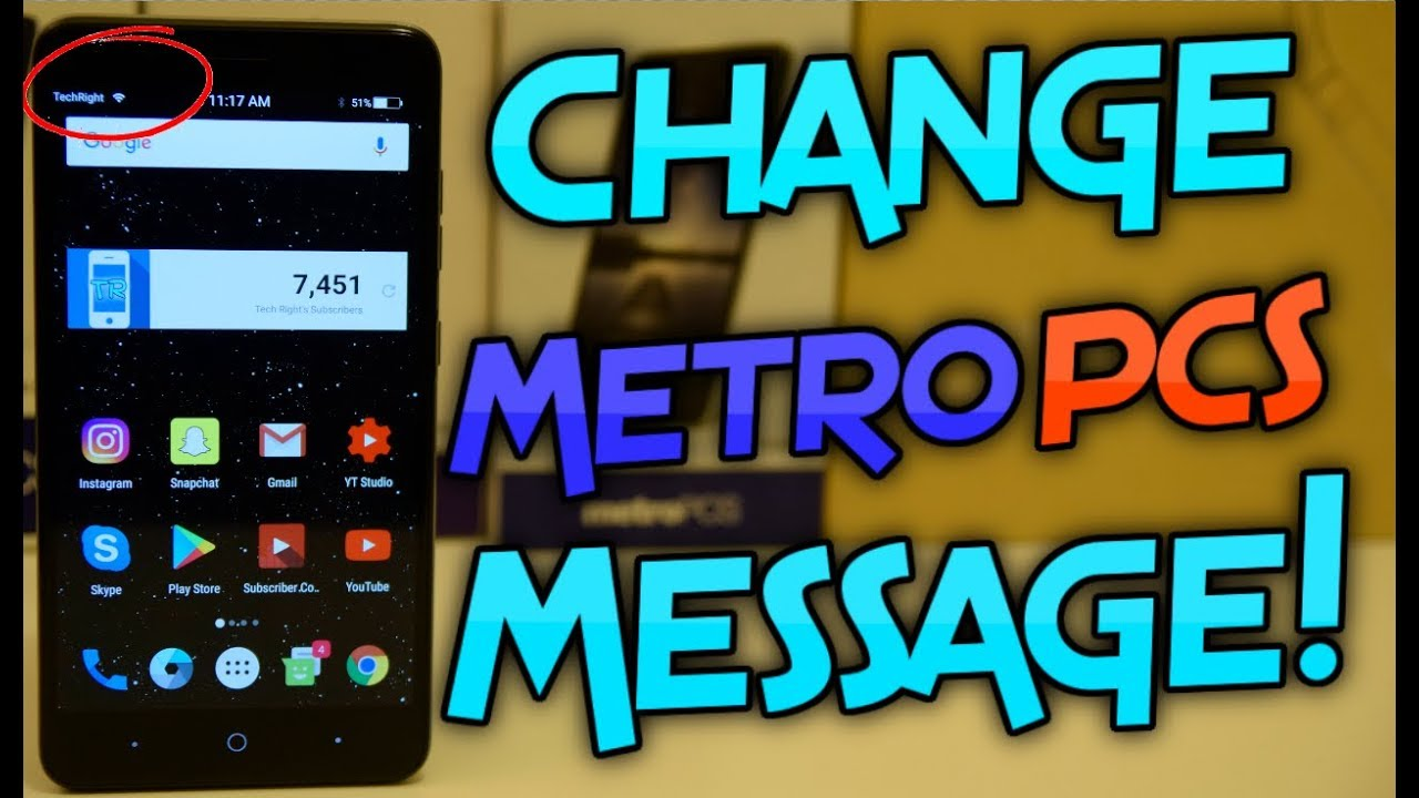 How To Change The Metro Pcs Message On Zte Blade Zmax Youtube