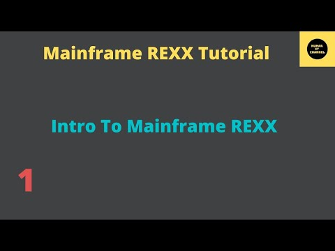 Mainframe REXX Tutorial