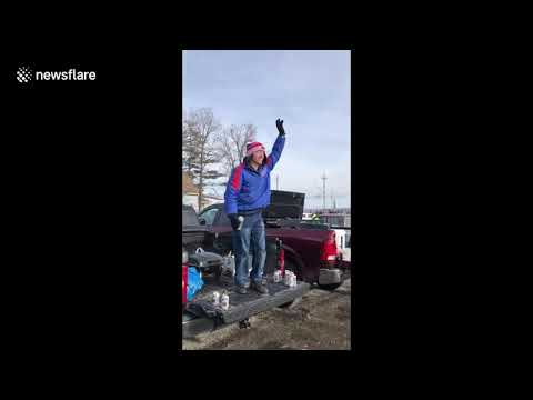 Doc Reno - Excited Bills Fan Almost Breaks His Neck