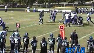 Don Davis Eleanor Roosevelt football 2008 season highlight greenbelt maryland
