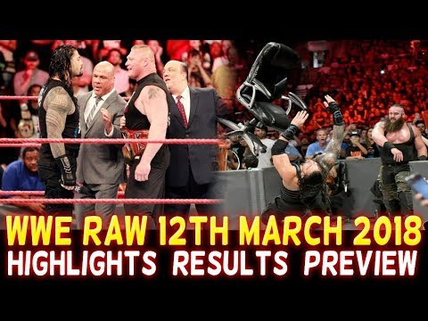 WWE Monday Night Raw 12th March 2018 Hindi Highlights Preview - Roman Reigns | Brock Lesnar Results thumbnail