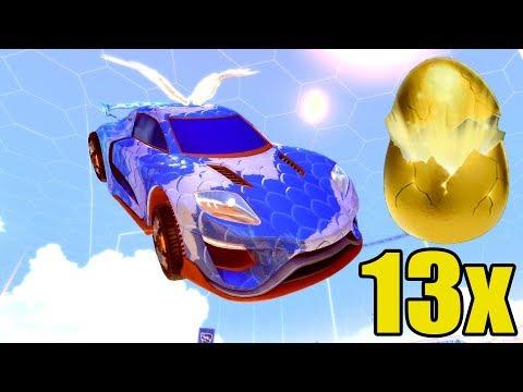 RAKIETOWE PORSCHE w Rocket League z Nieznajomym + 13 GOLDEN EGG OPENING thumbnail
