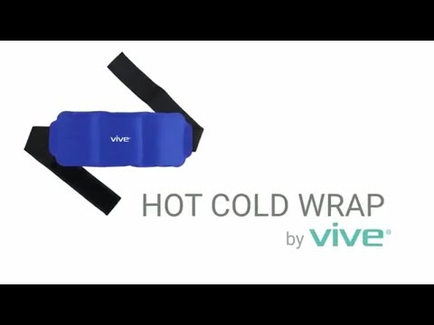 Hot Cold Wrap by Vive Reusable Gel Ice & Heat Therapy Pack w/ Strap for Muscles, Injuries, Back