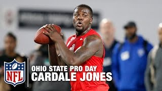 QB Cardale Jones Ohio State Pro Day Workout Highlights | NFL