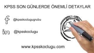 KPSS SON 1 AY DİKKAT!!