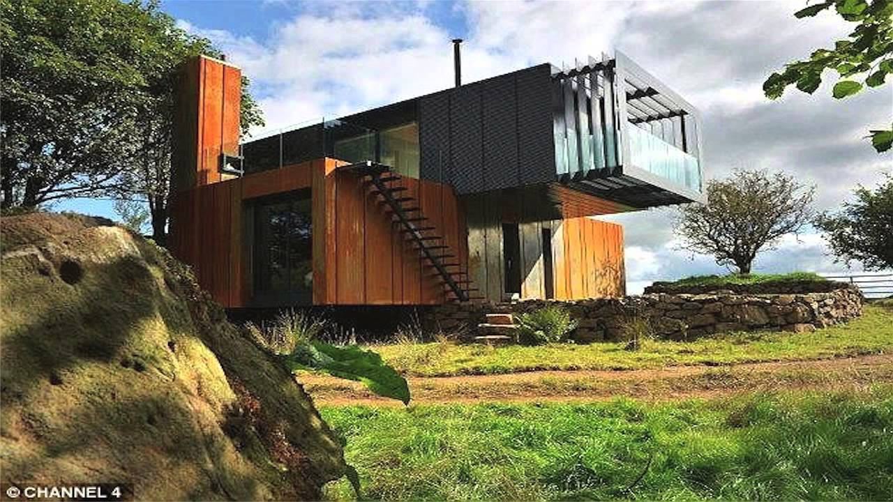 shipping containers made into unique homes - youtube