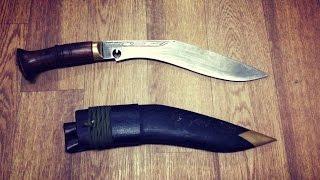 Непальский нож кукри - нож для выживания, выкованный из рельсы.(Кукри, исправно служащий своему владельцу на протяжении 6 лет. Нож, выкованный непальцами из рельсы хоть..., 2016-11-12T01:33:16.000Z)