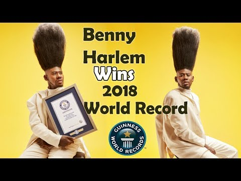 Benny Harlem WINS The 2018 World Record for World's Tallest High-Top Fade