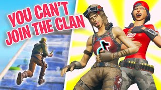 I tried out for TIKTOK Clans as a FAKE DEFAULT SKIN in Fortnite...
