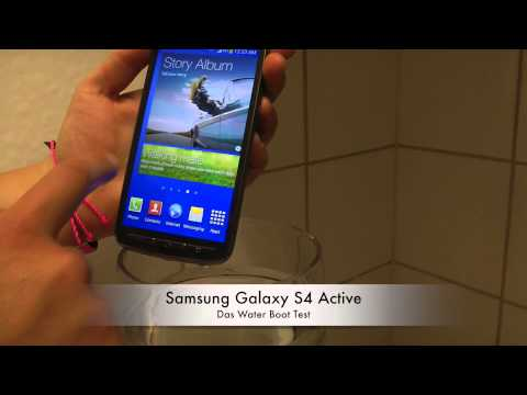 Samsung Galaxy S4 Active - Das Water Boot Test