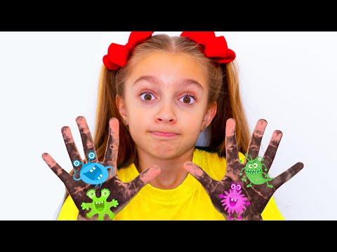 Lagu Cuci Tangan   Wash Your Hands Children Song   Lagu Kebiasaan Baik Dari Sunny Kids Songs