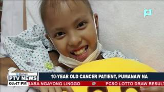 10-year old cancer patient, pumanaw na