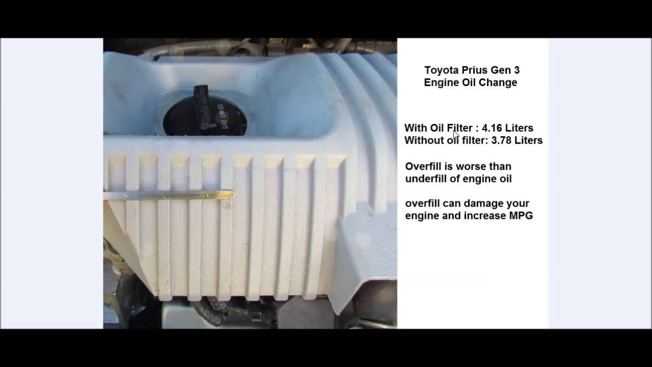 Toyota Prius Gen 3 Engine Oil Capacity And Proper Check English