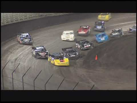 Brian Birkhofer sails past Scott Bloomquist off the final turn chalking up his second Late Model Nationals win. - dirt track racing video image
