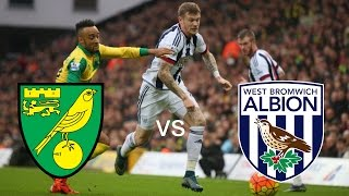 Norwich vs West Brom with goals