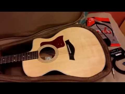 My New Taylor Guitar Unboxing The 214ce
