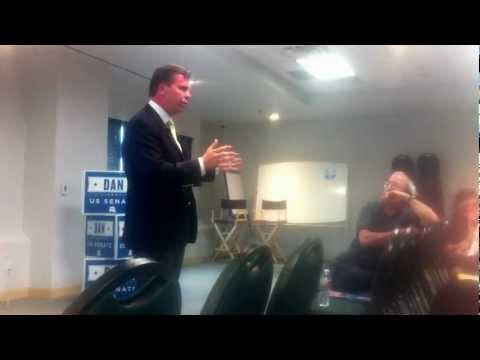 Dan Liljenquist Talks with Supporter at Provo Town Hall Meeting