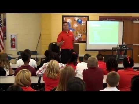 Louie Herron visits Blandy Hills Elementary School in Milledgeville