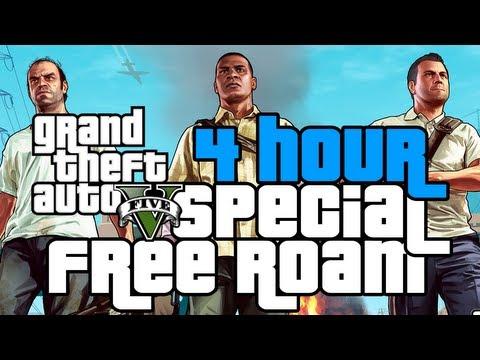 GTA V 4HOUR FREE ROAM SPECIAL!